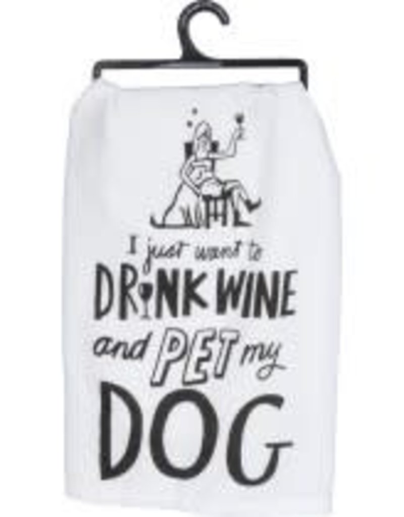 Primitives By Kathy Dish Towel - Pet My Dog