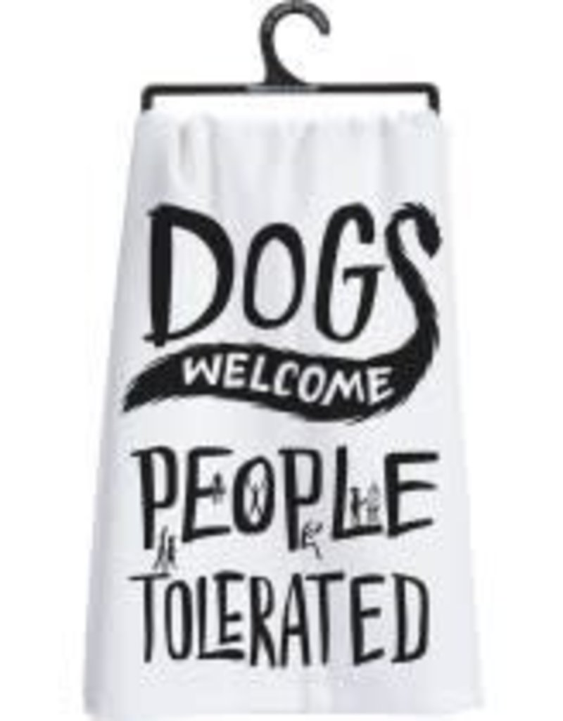 Primitives By Kathy Dish Towel - Dogs Welcome