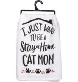 Primitives By Kathy Dish towel - Cat Mom