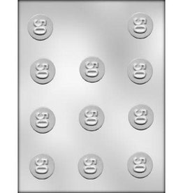 "CK Products ""50"" Mint Chocolate Mold - 1-1/4"""