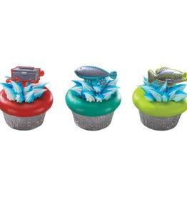 Decopac Metallic Fishing Cupcake Picks (12/pkg)