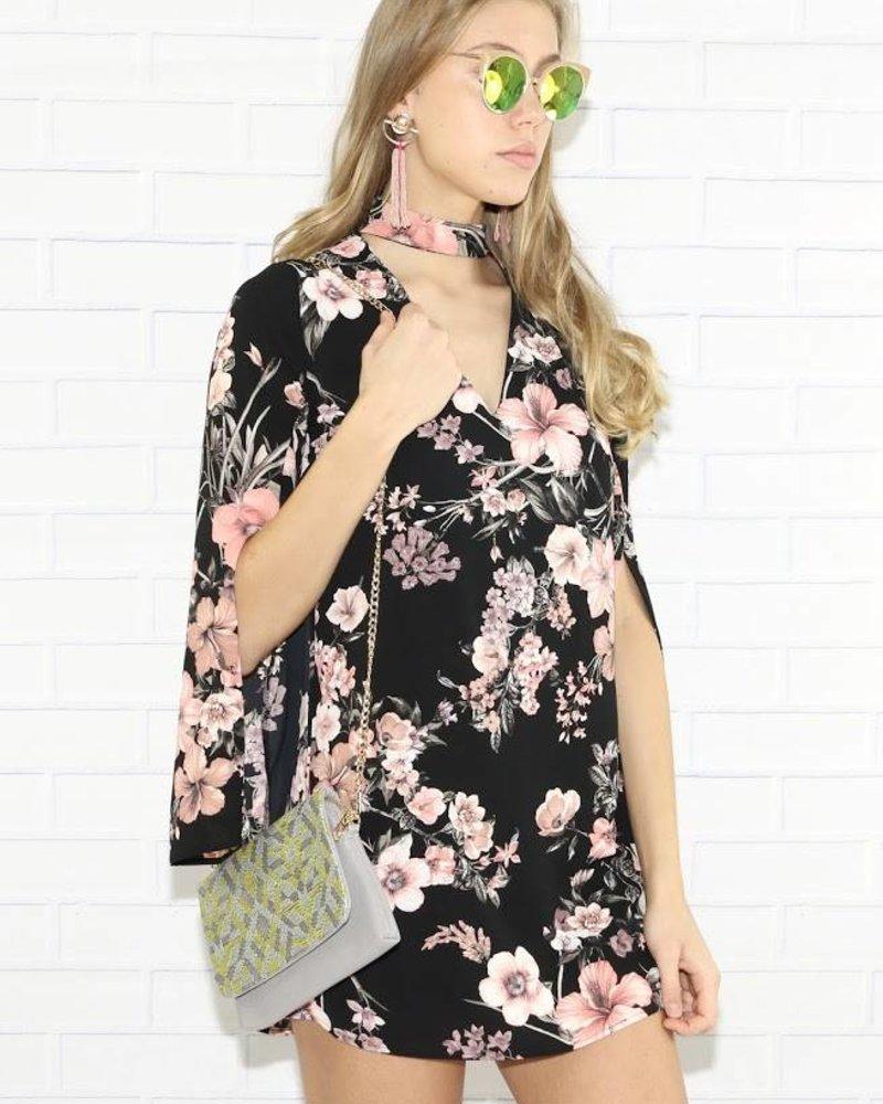 Cefian d6362 kimono style choker dress