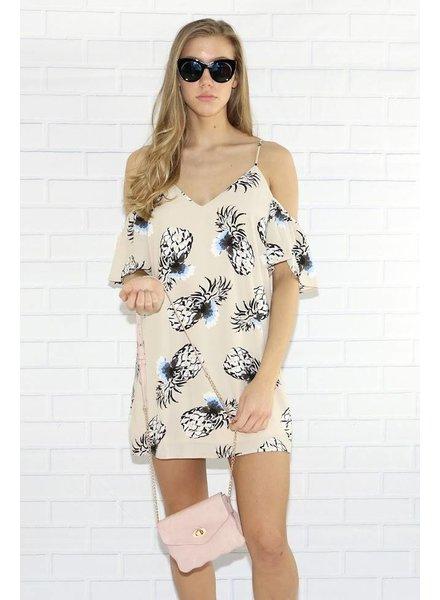 rokoko r66501 floral cold shoulder dress