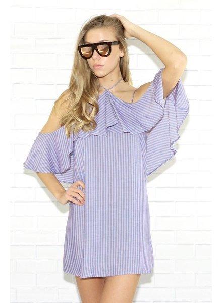 r66510 3/4 cold shoulder dress