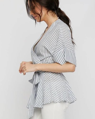lumiere at01967 pinstripe wrap top