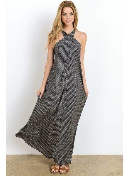 Hommage hd4088 wrap maxi dress