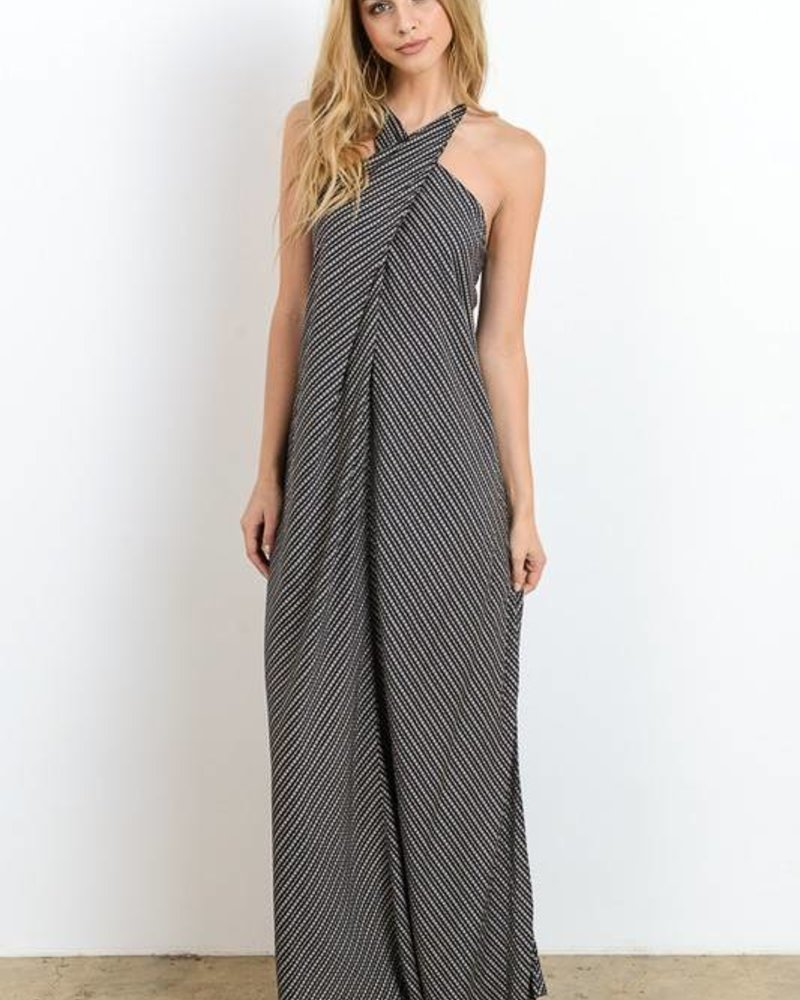 Hommage hd4088 wrap maxi dress
