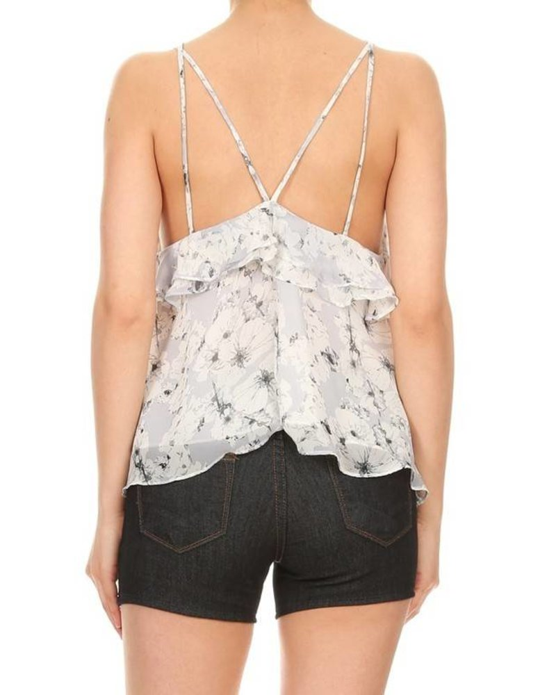 1230899 floral ruffle top