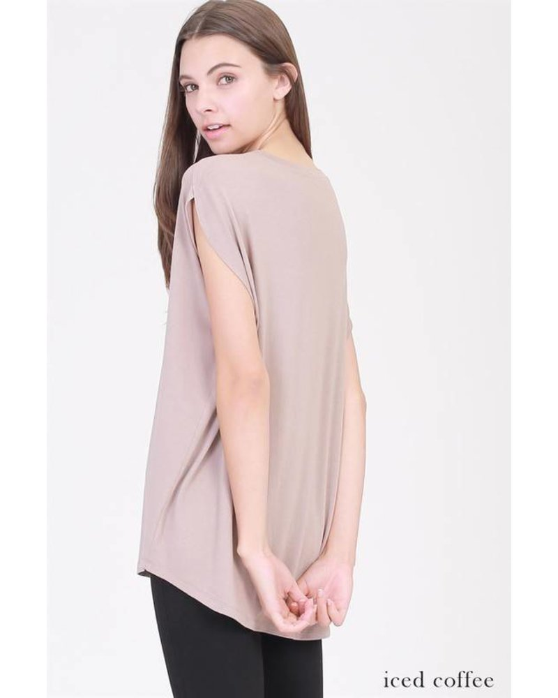 double zero 17e636 box cap sleeve top