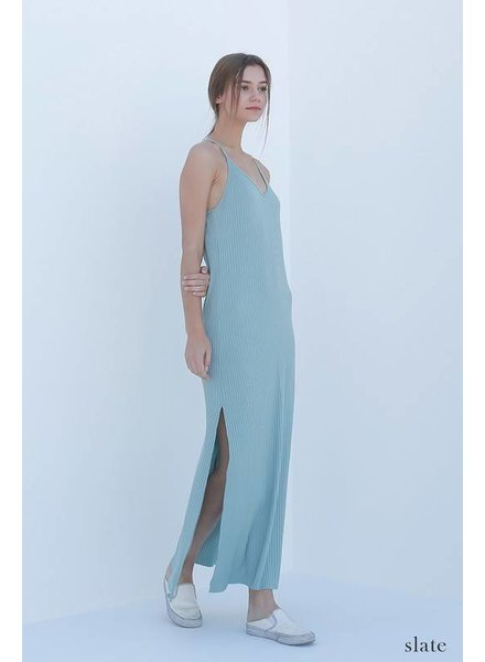 double zero 17f613 ribbed maxi dress