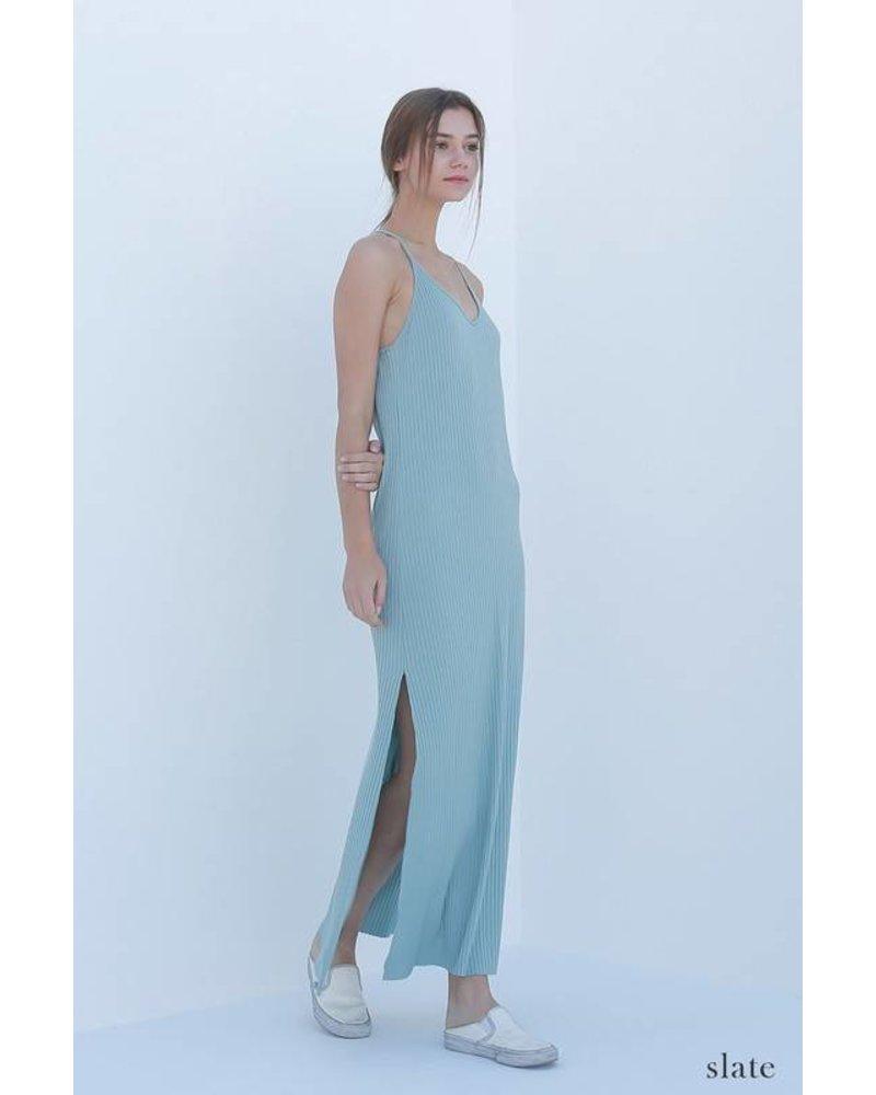 double zero 17f613 ribbed maxi dress