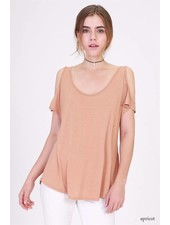 double zero 17f581 cold shoulder top