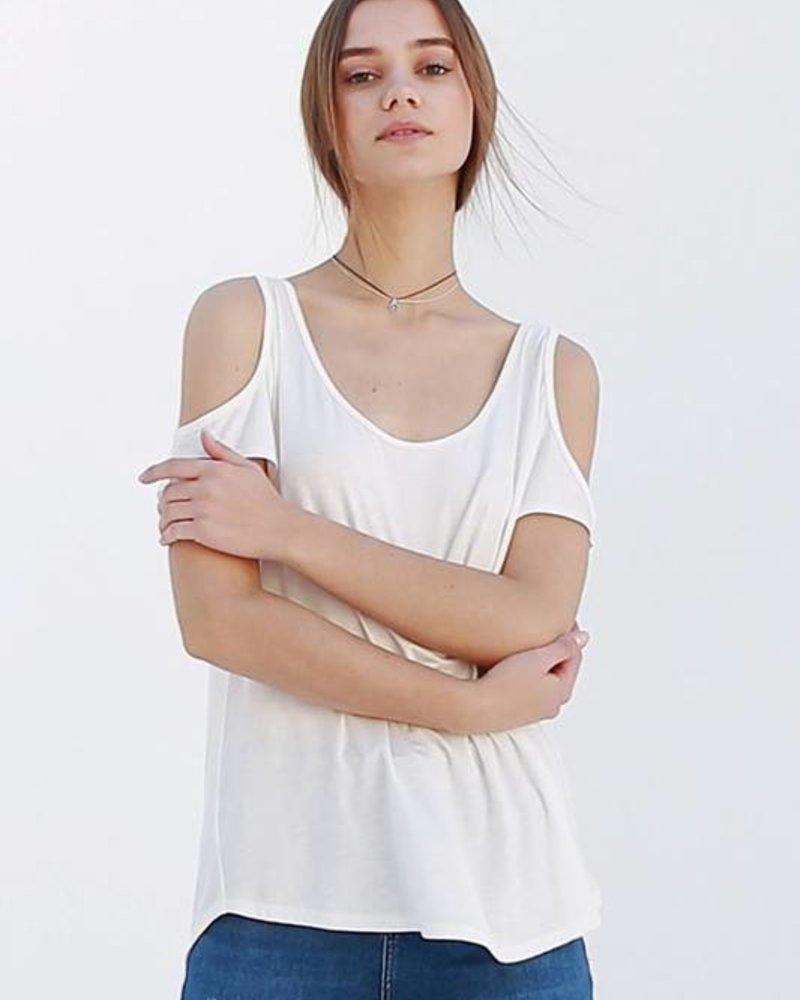 double zero 17f581 cold shoulder top