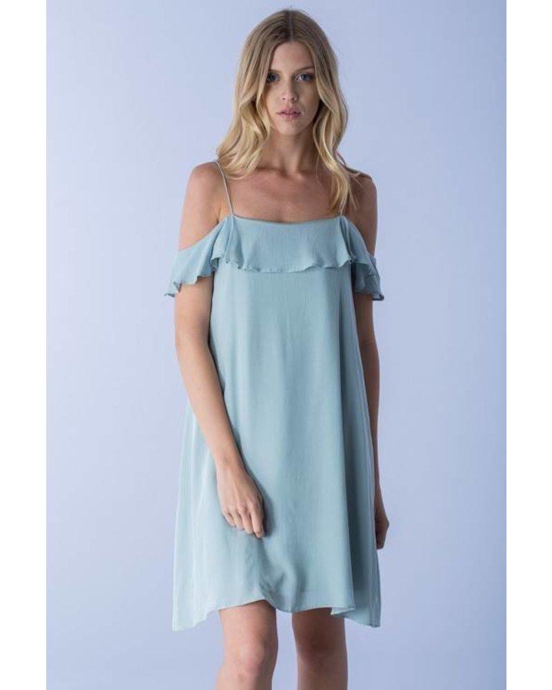 S10117 cold shoulder dress