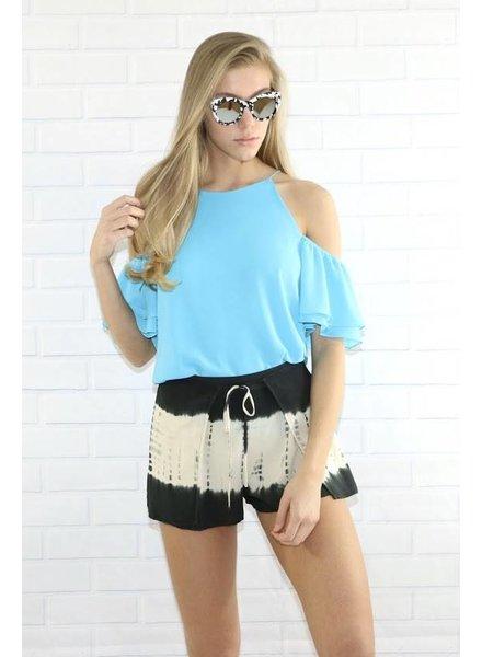 Aakaa r90245h tie dye shorts