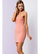 Blue Blush bd8463 cross neck halter dress