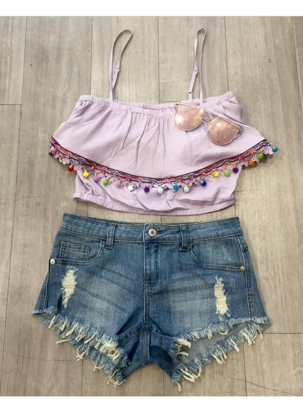 double zero 16g861-1 pom crop top