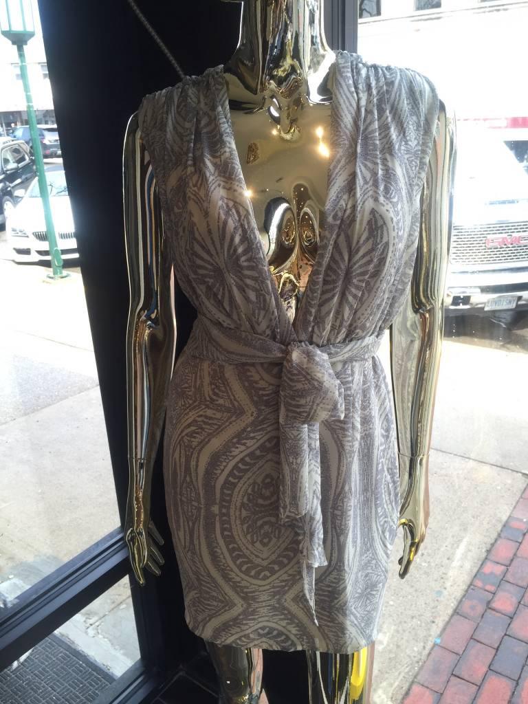 dress forum fd1740 pleated print dress