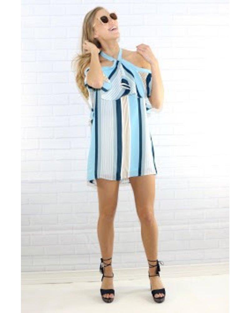 lumiere nd30732 striped halter dress