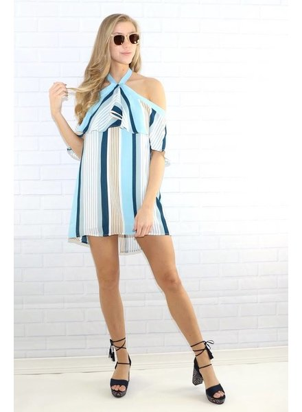 lumiere nd30732 striped halter dress