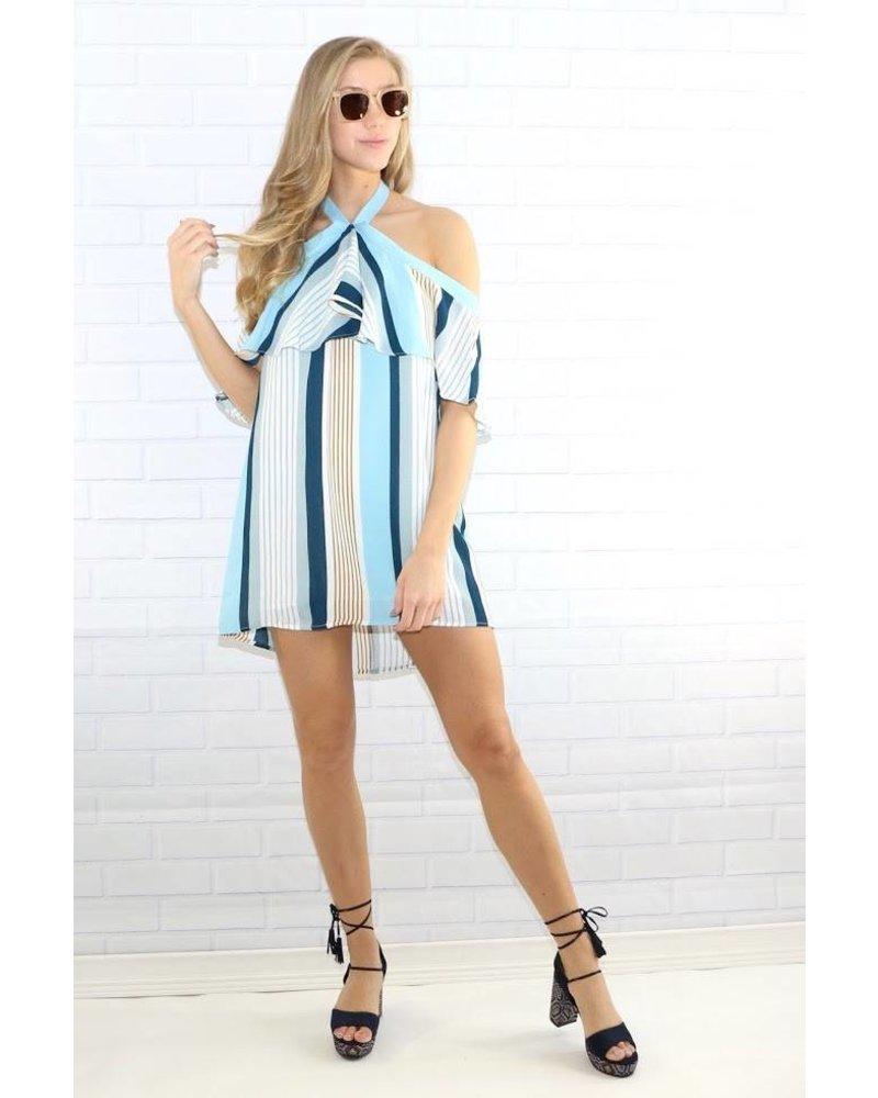 nd30732 striped halter dress