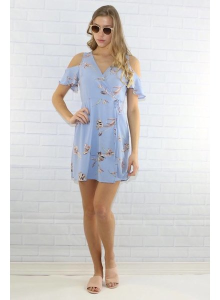 Lush dr94539-i cold shoulder dress