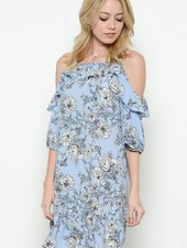 MI IN Fashion INC. dt3814 cold shoulder floral dress