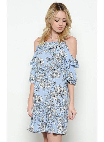 MI IN Fashion INC. dt3814 cold shoulder floral dress