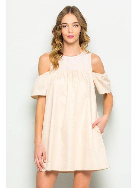 essue ld31395 cold shoulder dress