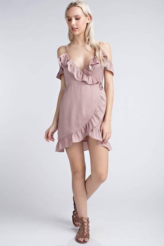 Honey Punch 7id0203h-1 sleeveless ruffle dress