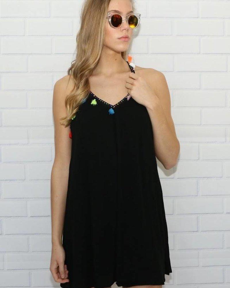 Love Riche LD41547 tassel trim dress