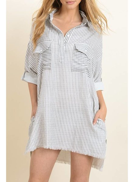 dress forum fd1770 pinstripe shirt dress