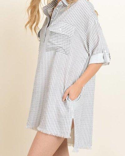 dress forum fd1770 pinstripe shirt dress