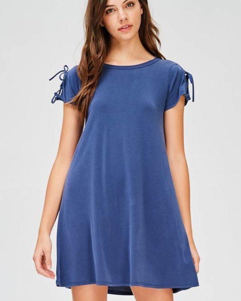 jolie 9206 tie up t-shirt dress