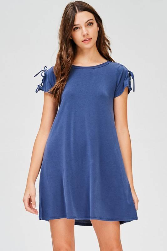 jolie 9206 tie up t-shirt dress