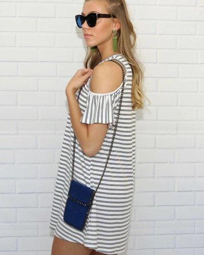 Love Riche ld41602 cold shoulder stripe dress