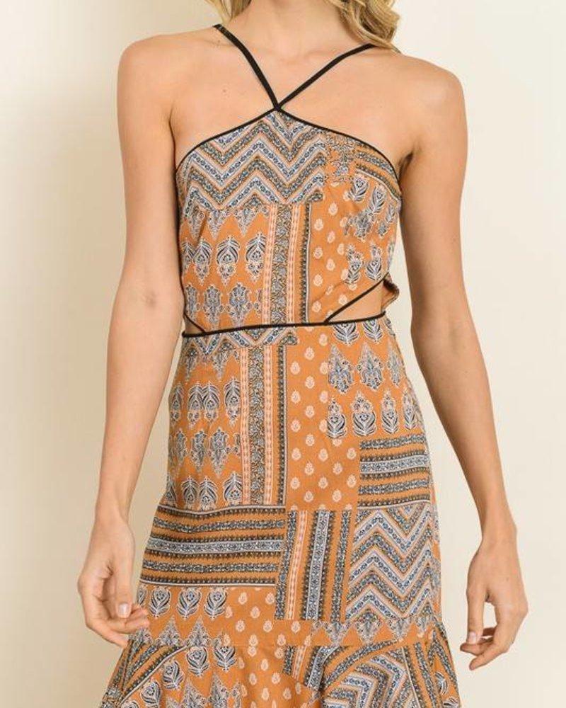 dress forum fd1828 bandana halter dress