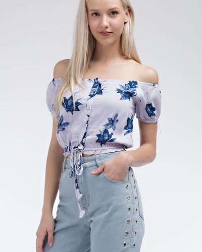 Honey Punch 7IT0397A off shoulder top