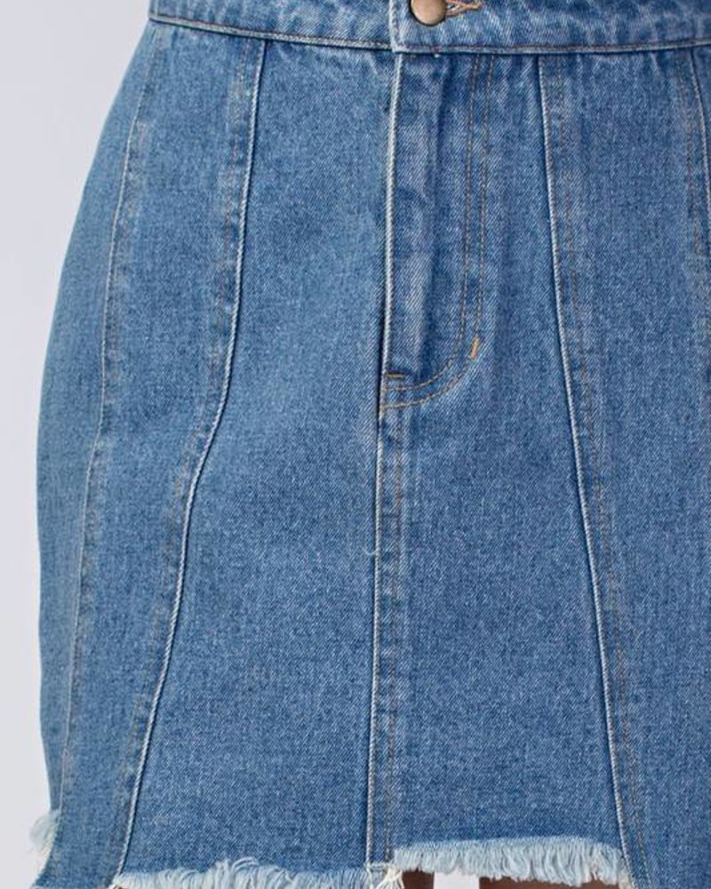Honey Punch 6IS1970C uneven hem skirt