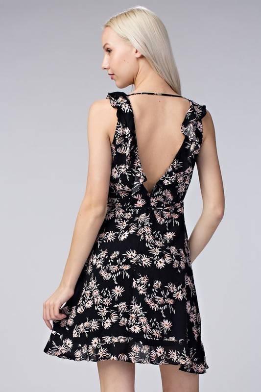 Honey Punch 7id0303ab Floral wrap dress