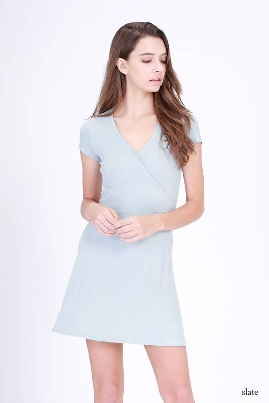 double zero 17c869 wrap dress