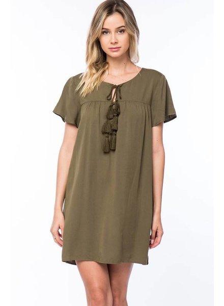 lumiere nd30739 tassel mini dress