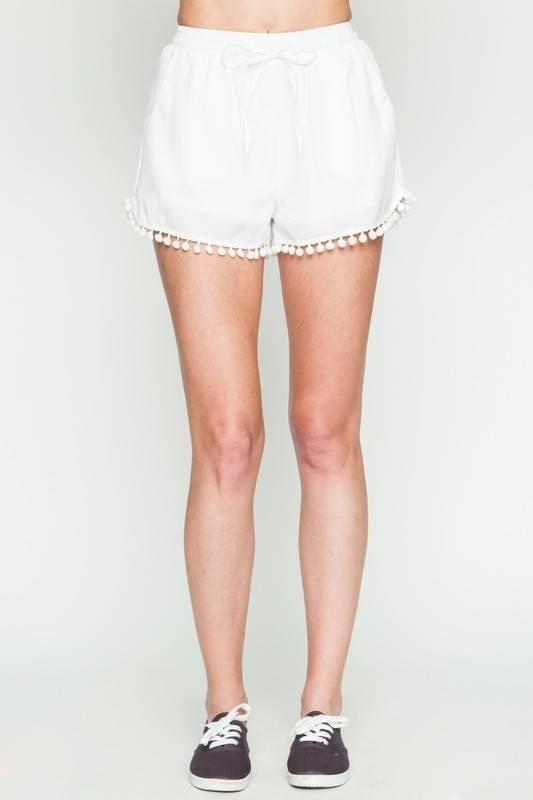 Very J vp71020 tassel trim shorts