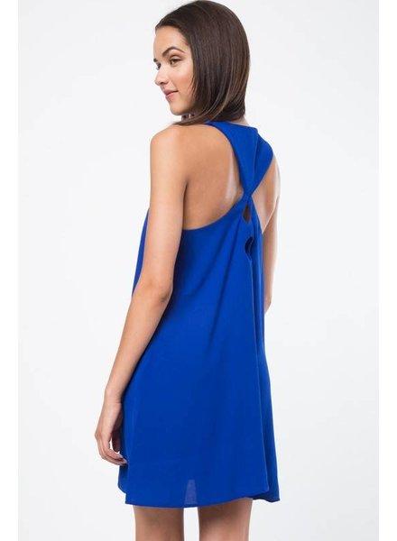 Very J VD32067 detailed back dress