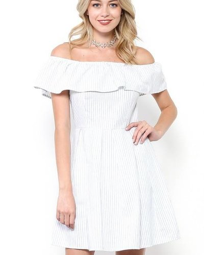 MI IN Fashion INC. dy3784-a cinch waist off shoulder dress