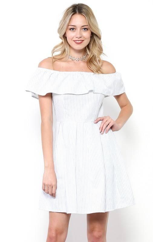 MI IN Fashion INC. dy3784-a cinch waist off shoulder dress