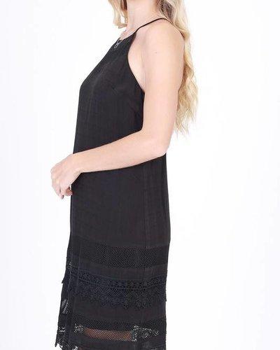 double zero 17A891 lace lace trim dress