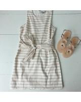 Naked Zebra yd109133 waist tie stripe dress