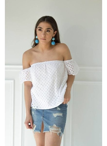 Honey Punch 7it0151m eyelet crop top