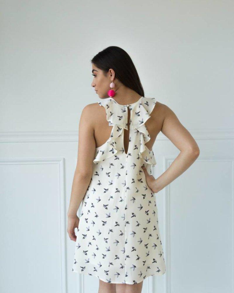Millibon d8786 bird print dress